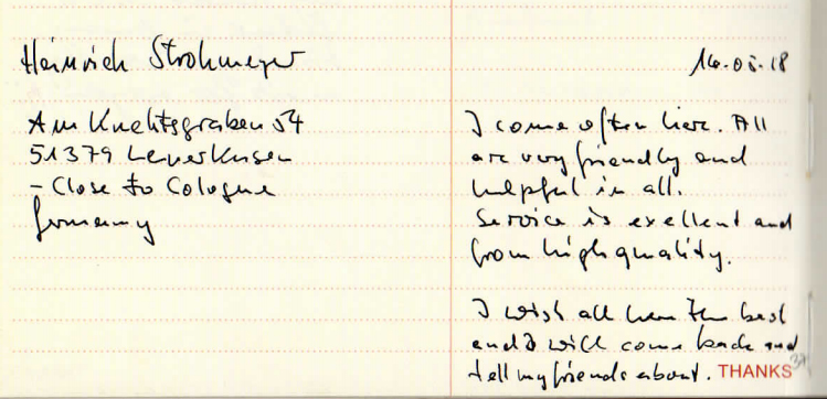 Testimonial by Heinrich